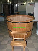 Купель круглая для бани и сауны 150х120см.
