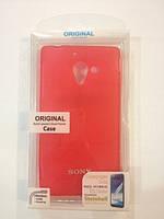 Силиконовый чехол для телефона Celebrity TPU cover case for Sony Xperia ZL L35h, red