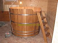 Купель круглая для бани и сауны 180х120см., фото 1