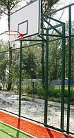 Стойка баскетбольная стационарная (уличная, две опоры), вынос стрелы от 45-60 см