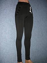 """Штаны женские """"Kenalin"""" на меху. Молодежка. р. L/XL. Черные."""