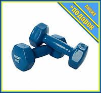 Гантель 4 кг MS 3279 с виниловым покрытием (Синий),Гантели, штанги и гири, Гантели женские,Гантели для фитнеса