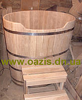 Купель овальная для бани и сауны 130х90х120см.