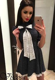 10051 Платье с бантом