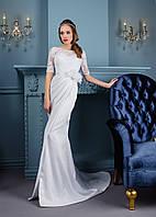 Элегантное свадебное платье с изящной квадратной спиной и восхитительным шлейфом