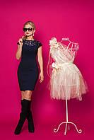 Нарядное женское платье с гипюром, фото 1