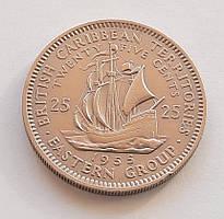 Східні Кариби 25 центів 1955