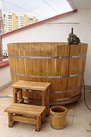 Купель овальная для бани и сауны 150х110х120см.
