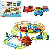 Детская железная дорога с поездом машинкой и дорожными знаками