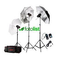 Набор студийного света Godox MiniMaster 150 KIT-4, 3х150 Дж