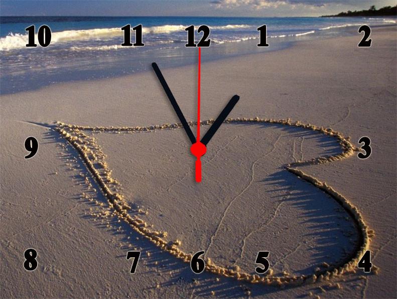 "Настінні годинники ""Heart on the beach"" кварцові"