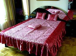 Покрывало Timonin Классика жаккард роз-бордо