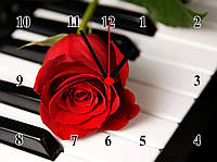 """Настенные часы """"Любовь и музыка""""  кварцевые, фото 1"""