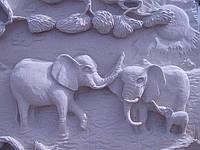 """Картина на камне """"Слоны"""", фото 1"""