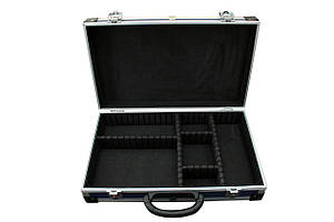 Кейс ящик алюмінієвий інструментальний з перегородками для інструментів синій 395 * 240 * 90 мм Htools