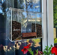 Годівниця для птахів з присосками на вікно акрилова Біг Бен