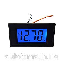 Амперметр Вольтметр врізний 12 В . ЖК дисплей.