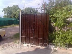 Ворота въездные обшитые поликарбонатом, фото 2