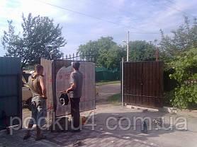 Ворота въездные обшитые поликарбонатом, фото 3