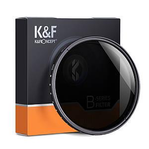 Нейтрально-сірий світлофільтр K&F Concept зі змінною щільністю 77 мм ND2 - ND400 (Slim Variable/Fader NDX)