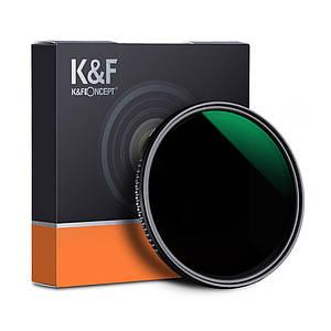 Нейтрально-сірий світлофільтр K&F Concept зі змінною щільністю 77 мм ND8 - ND2000