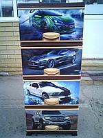 Комод пластиковый на 4 ящика, Авто 6, Elif Турция