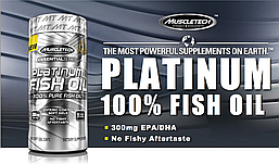Platinum Fish Oil MuscleTech, 100 капсул