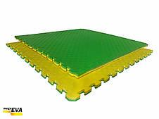 "Мат-татами  ""ласточкин хвост"" 80 кг/м3 20мм зелено-желтые Т1, фото 2"
