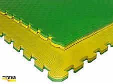 "Мат-татами  ""ласточкин хвост"" 80 кг/м3 20мм зелено-желтые Т1, фото 3"