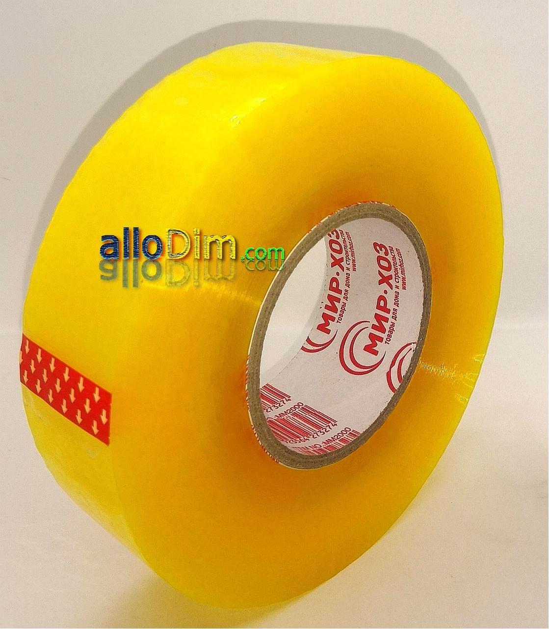 Скотч ПЛОТНЫЙ упаковочный прозрачный - 50 микрон × 2000 м (заказ кратно 6шт)