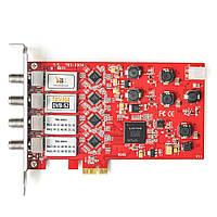 ТВ тюнер для ПК TBS6904 DVB-S2 Quad Tuner PCIe Card