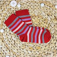 Термошкарпетки дитячі GROEDO 14094 (розмір 23-26, червоний у смужку)
