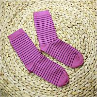 Термошкарпетки дитячі GROEDO 14096 (розмір 31-34, бузковий у смужку)