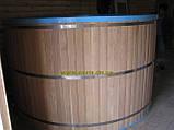 Купели, бассейны полипропиленовые круглые зашитые дубом, фото 3