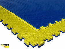 """Мат-татамі Ланор """"ластівчин хвіст"""" 80 кг/м3 25мм жовто-синій, фото 3"""