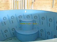 Купель-бассейн полипропиленовый зашитый дубом 2,5м