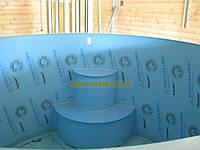Купель-бассейн полипропиленовый зашитый дубом 2,5м, фото 1