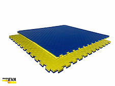 "Мат-татами ласточкин хвост"" 120кг м3 20мм желто-синий Т2, фото 2"