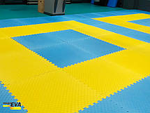 "Мат-татами ласточкин хвост"" 120кг м3 20мм желто-синий Т2, фото 3"