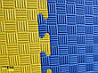 "Мат-татами ласточкин хвост"" 120кг м3 20мм желто-синий Т2, фото 4"
