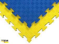 """Мат-татамі Ланор """"ластівчин хвіст"""" 120кг м3 30мм жовто-синій Т2, фото 3"""
