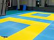 """Мат-татамі Ланор """"ластівчин хвіст"""" 120кг м3 30мм жовто-синій Т2, фото 2"""