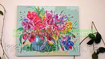 "Фото картины по номерам ""Букет с яркими ирисами"", 40х50см. Токарюк Анна."