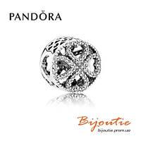 Pandora шарм ЛЕПЕСТКИ ЛЮБВИ CZ 791808CZ серебро 925 Пандора оригинал