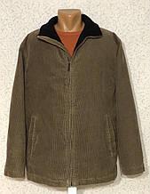 Тёплая вельветовая мужская куртка 54-56 р