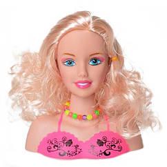 Лялька-голова для зачісок Bambi 1377-4 з аксесуарами (Рожевий)
