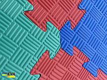"""Мат-татамі Ланор """"ластівчин хвіст"""" 80 кг/м3 20мм червоно-синій Т1, фото 3"""