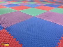 """Мат-татамі Ланор """"ластівчин хвіст"""" 120кг м3 40мм червоно-синій, фото 2"""