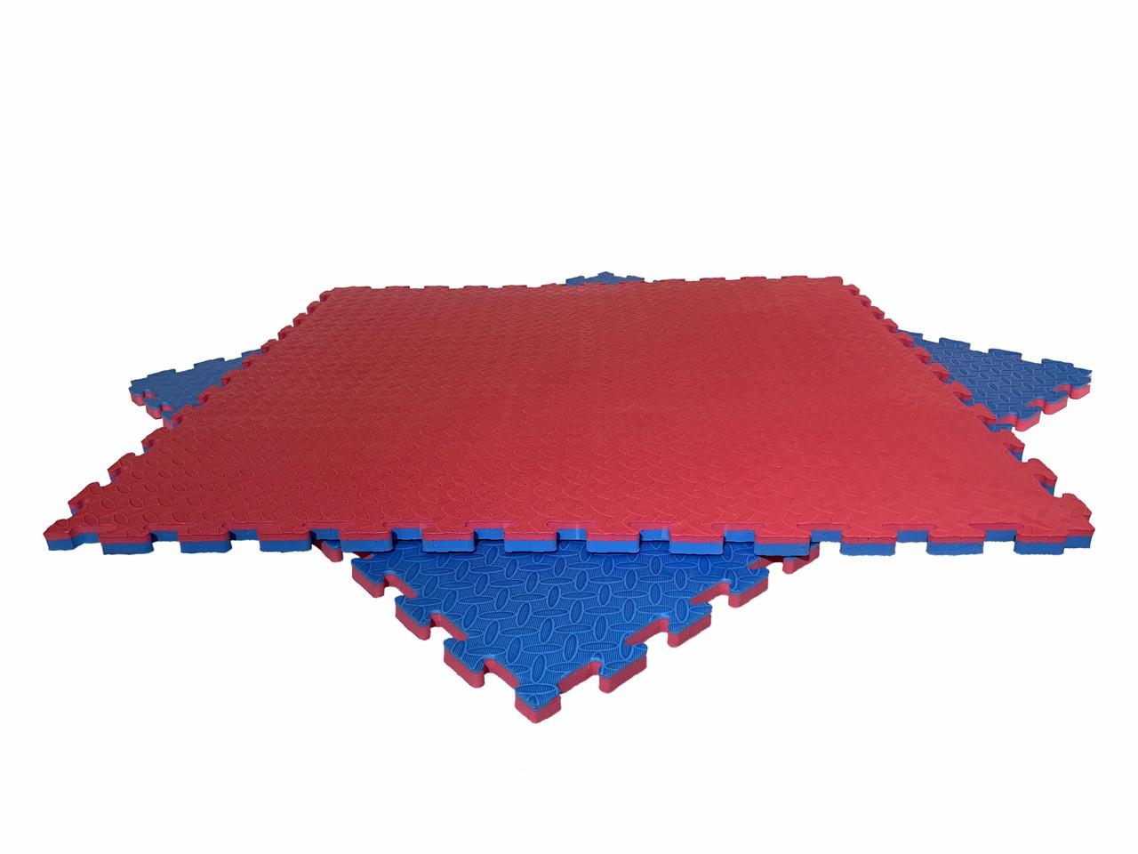 """Мат-татами  """"ласточкин хвост"""" 120кг м3 35мм красно-синий Т2"""