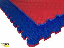 """Мат-татамі Ланор """"ластівчин хвіст"""" 80 кг/м3 30мм червоно-синій, фото 3"""